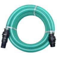 Wąż ssący ze złączkami, 7 m, 22 mm, zielony