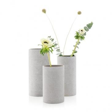 Wazon 20 cm Blomus Coluna jasnoszary