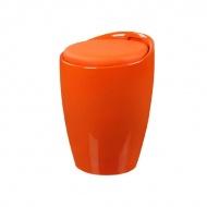 Wielofuncyjna pufa King Home Tubo pomarańczowa
