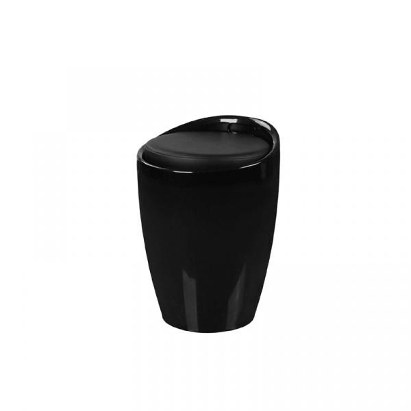 Wielofunkcyjna pufa King Bath Tubo czarna LI-KK-705B.CZARNY