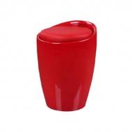 Wielofunkcyjna pufa King Home Tubo czerwona
