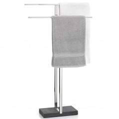 Wieszak do łazienki stojący na ręczniki Blomus Menoto błyszczący