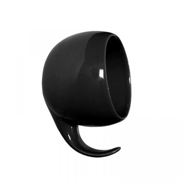 Wieszak ścienny ceramiczny Gazel Wall Hook czarny GL02BLK