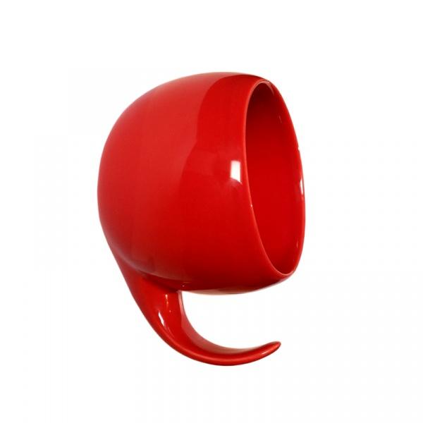 Wieszak ścienny ceramiczny Gazel Wall Hook czerwony GL02R