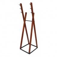 Wieszak stojący 172cm Moika Combo kasztanowo-czarny
