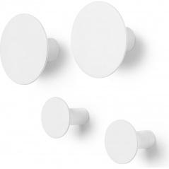Wieszaki łazienkowe 4szt. Lily White Blomus