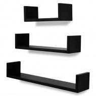Wiszące U-kształtne półki na książki/DVD