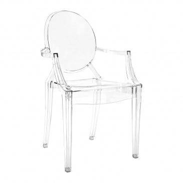 Włoskie krzesło King Bath Louis Ghost