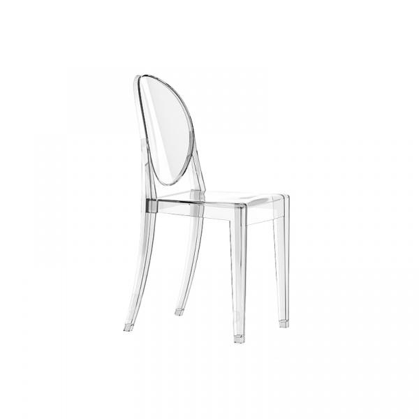 Włoskie krzesło King Bath Victoria Ghost transparentne SO-KPC-448.TRANSPARENTNY