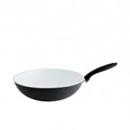 Wok ceramiczy 28cm Fissler Black White Edition czarno-biały