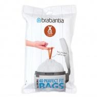 Worki na śmieci 10-12l Brabantia PerfectFit Bags białe