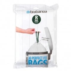 Worki na śmieci 36l Brabantia PerfectFit Bags białe