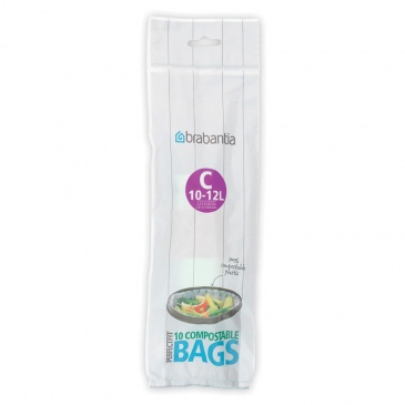 Worki na śmieci do kompostowania 12l Brabantia Compostable Bags zieone 41 97 82