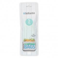 Worki na śmieci do kompostowania 6l Brabantia Compostable Bags białe