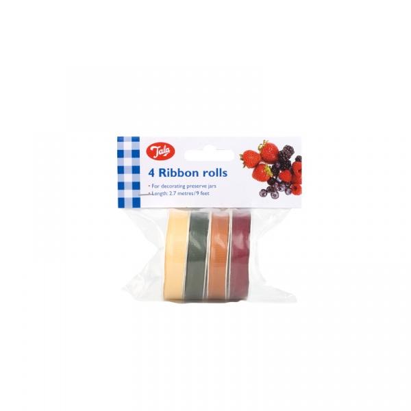 Wstążki do dekorowania słoików 4 rolki Tala multikolor 10A01445