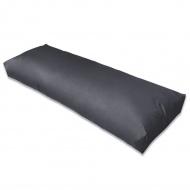 Wyściełana poduszka na oparcie, 120x40x10 cm, szara