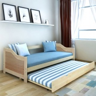 Wysuwane łóżko sosnowe/sofa 200x90 cm Naturalny kolor