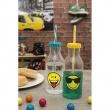 Zak! - Butelka ze słomką 550ml, żółta, Smiley 6727-0175