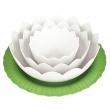 Zak! - Zestaw misek z podstawką Lotus, ziel.-biały 1751-J370