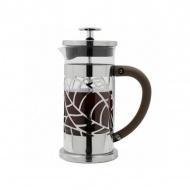 Zaparzacz do kawy 350ml Cafe Ole French Press Leaf srebrny/czarny/przezroczysty