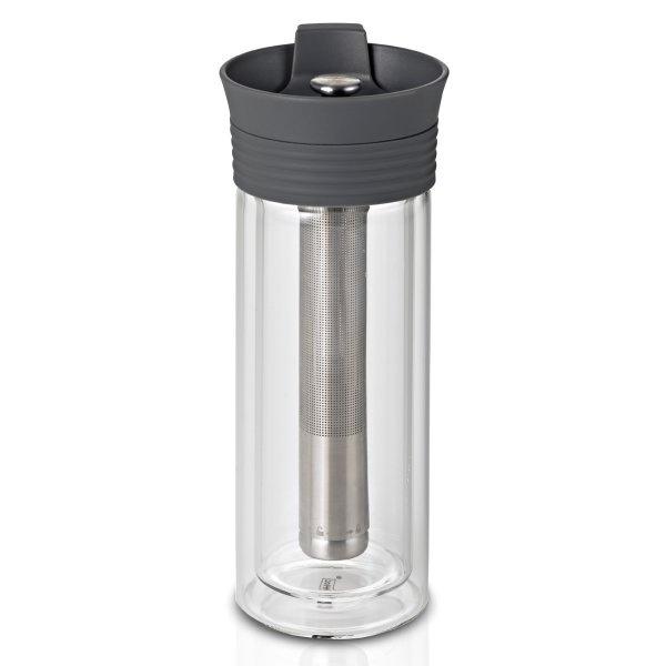Zaparzacz termiczny 300 ml AdHoc T-Tea szary A-TT10