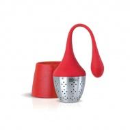 Zaparzaczka do herbaty Hangtea AdHoc mała czerwona