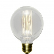 Żarówka dekoracyjna 12x8cm Lampex G80 przezroczysta