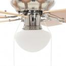 Zdobiony wentylator sufitowy z lampą, 82 cm, jasnobrązowy