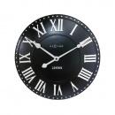 Zegar 34,5 cm NeXtime London Roman czarny