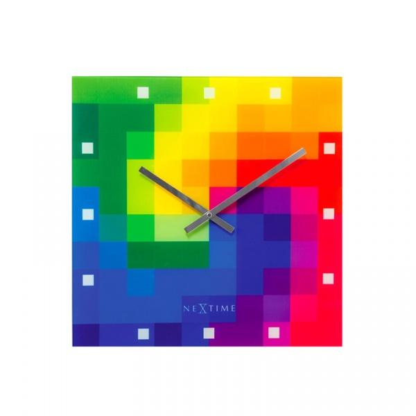 Zegar 43 x 43 cm Nextime Pixtime multikolor 8164