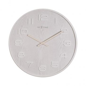 Zegar 52,8 cm NeXtime Wood Wood Big biały
