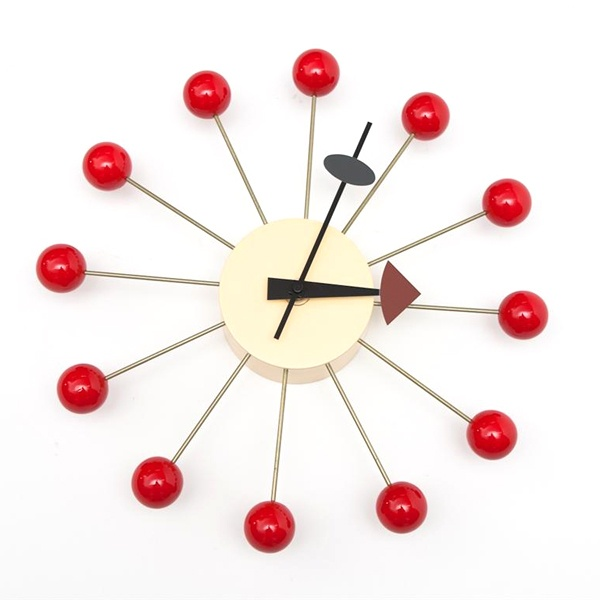 Zegar Kulka czerwony 5902385710602