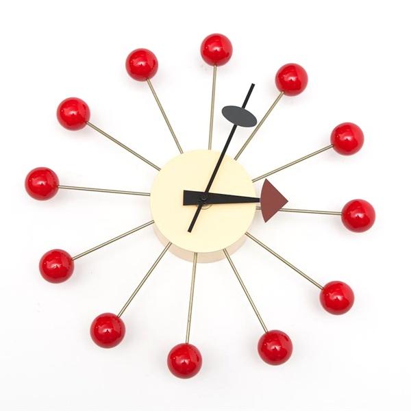 Zegar Kulka czerwony DK-14220