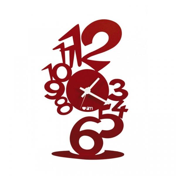 Zegar LUPIN TAVOLO Czerwony 11018 C64