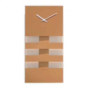 Zegar NeXtime Bold Stripes 19x38 cm miedziany