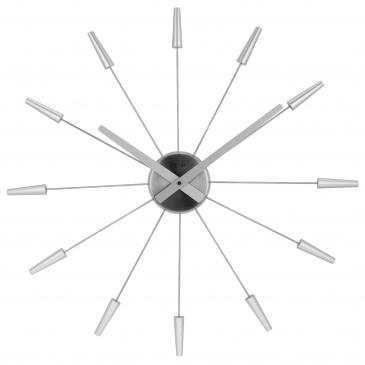 Zegar ścienny 58 cm Nextime Plug inn srebrny