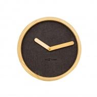 Zegar ścienny 30 cm NeXtime Calm brązowy