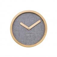 Zegar ścienny 30 cm NeXtime Calm szary