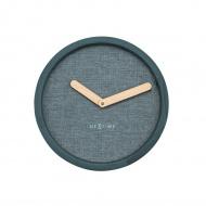 Zegar ścienny 30 cm NeXtime Calm turkusowy