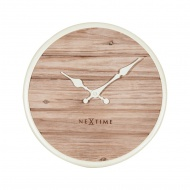 Zegar ścienny 30 cm NeXtime Plank biały