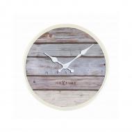 Zegar ścienny 30 cm NeXtime Plank szary