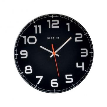 Zegar ścienny 30cm Nextime Classy czarny