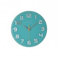 Zegar ścienny 30cm Nextime Classy turkusowy