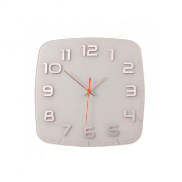 Zegar ścienny 30x30 cm Nextime Classy biały