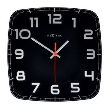 Zegar ścienny 30x30 cm Nextime Classy czarny