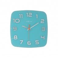 Zegar ścienny 30x30 cm Nextime Classy turkusowy