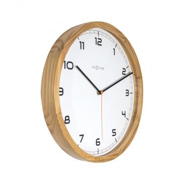 Zegar ścienny 35 cm NeXtime Company Wood jasny brąz
