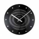 Zegar ścienny 35 cm Nextime Concentric czarny