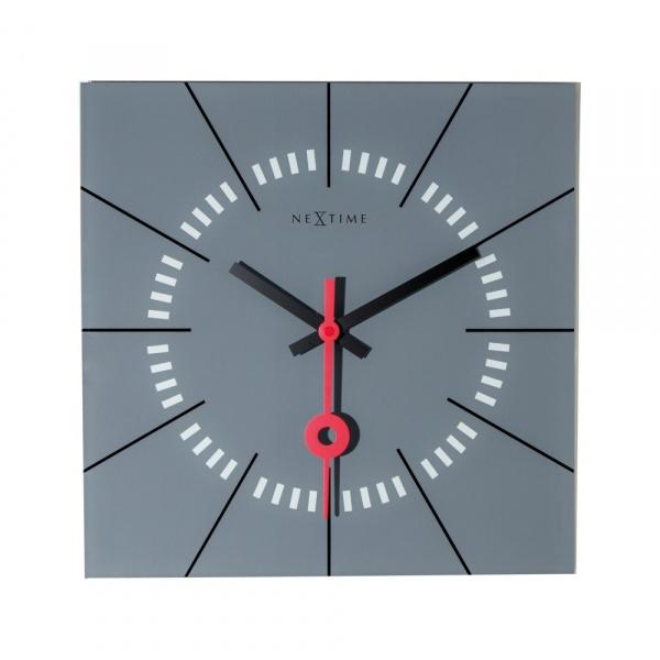 Zegar ścienny 35 cm NeXtime Stazione szary 8636GS