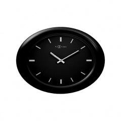 Zegar ścienny 40 cm NEXTIME Oval black